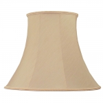 Bowed Empire Candle Shade Peach Shantung